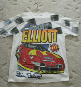 VTG Collectible Racing Cars Bill Elliot 1995-T-Shirt Mac Attack