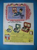Publicite de Prensa Teppaz Electrófono Eco Presence Ilustración Gauthier