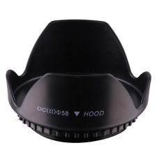 58mm Tulip Flower Lens Hood for Nikon Canon Sony Pentax Digital Camera Lens 58mm