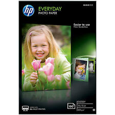"HP Everyday Glossy Photo Paper 6""x4"" 100 Sheets 200gsm 10x15cm"