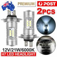 2X Headlight Globes H7 LED 12V 21W Xenon 6000k Car White Lamp Bulbs AU
