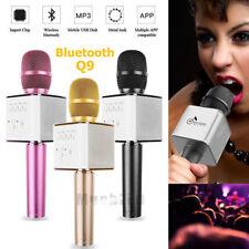 Q9 Handheld KTV Microphone Wireless Bluetooth Karaoke Home Mic Speaker Player