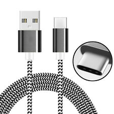 AMZER Black 1M High Speed Tangle Free USB Type C Data Sync Charging Braid Cable