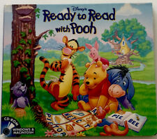 Disney's Ready to Read With Pooh Cd-Rom Vintage Kids Educational Pc Software(#78