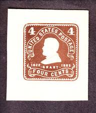 US U391 4c Entire Envelope Cut Square Mint Full Corner SCV $20