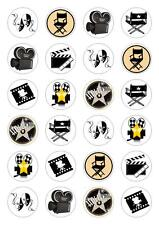 24 Hollywood Cupcake Fairy Cake Toppers Edible Rice Wafer Paper Decorations