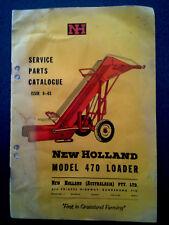 NEW HOLLAND LOADER  BOOK service parts catalogue