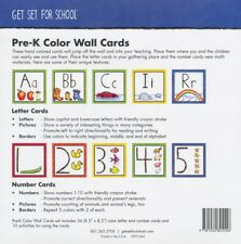 Pre-K Color Wall Cards, Set of 36, Christian Curriculum ~ Get Set For School
