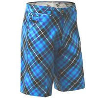 Golf Shorts by Royal and Awesome Blue Plaid Trews Tartan Diamond Size 30 - 46