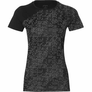 ASICS Women's Running T-Shirt Lite Show Reflective T-Shirt - Black - New