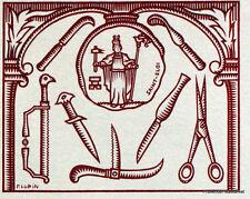 COUTELLERIE D ART THIERS    FRANCE Document Philatélique Officiel  1187