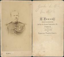 Prévost, Paris, garde de Paris vers 1875 CDV vintage albumen Tirage albuminé