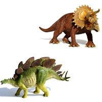 Stegosaurus + Triceratops Toy Dinosaur Figure Educational Models Christmas Gift