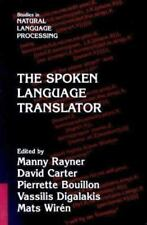 Studies in Natural Language Processing: The Spoken Language Translator (2000,...