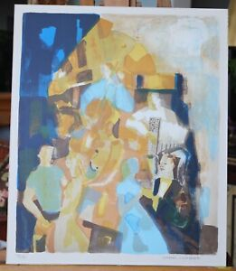 Mid Century modern abstract Georges Lambert Signed Limited Edition Litho Music