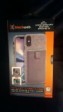 Brand New Blackweb Wallet Card Case For iPhone 8 / Gray Color
