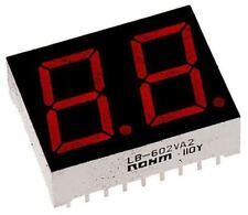 ROHM LB-602VK2 2 Digit 7-Segment LED Display, CC Red 16 mcd RH DP 14.2mm