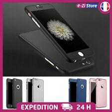 ETUI COQUE + VERRE TREMPÉ PROTECTION INTÉGRALE 360° POUR iPhone 5 5S SE