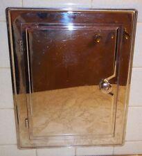 Antique Chrome Laundry Chute Door - Vintage - 1965