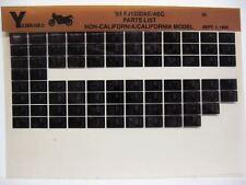 Yamaha FJ1200 1993 FJ1200AE FJ1200AEC Parts List Manual Microfiche n83