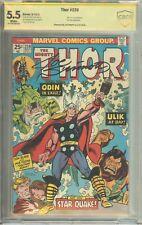 The Mighty Thor 147, 150, 152,   241- 417 CBCS (not CGC) Signed Sinnott