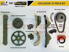 Per HONDA ACCORD CIVIC CRV 2.2 CTDI FULL 13pc DIESEL TIMING CHAIN KIT TENDICINGHIA
