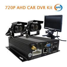 "4CH 720P AHD GPS SD Car DVR MDVR Rear View System 2 AHD IR Camera + 7"" Monitor"