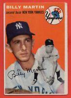 1954 Topps #13 Billy Martin VG-VGEX MARKED WRINKLE HOF New York Yankees FREE S/H