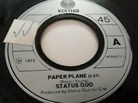 "STATUS QUO * PAPER PLANE * 7"" SINGLE VERY GOOD 1972"