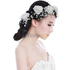 5PCS Flower Faux Pearl Bridal Wedding Prom Party Hair Clip Pin Headdress Tiara