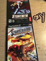 Lot Of 2 Stuntman PS2 Ignition Sony Playstation 2 Racing Car