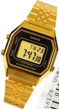 Casio Ladies Mid-Size Gold Tone Digital Retro Multi-Function Watch LA680WGA1DF