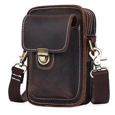 Vintage Men Leather Fanny Pack Waist Leather Belt Bag iPhone Pouch Shoulder Bag