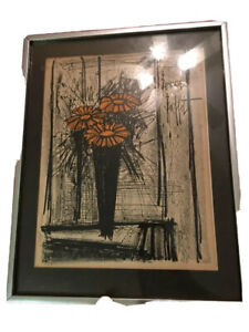 Bernard Buffet Original Signed Color Lithograph framed Authentic