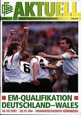 EM-Qualifikation 16.10.1991 Deutschland - Wales in Nürnberg
