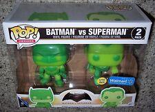 Funko POP Vinyl Walmart Exclusive BATMAN VS SUPERMAN GLOW-IN-THE-DARK 2-Pack