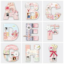 1 x New Beautiful Personalised Plaque Wooden Alphabet 26 Letters A-Z ( For GIRL)
