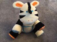 """11"""" Mamas  & Papas Musical Interactive Zebra 1999"""