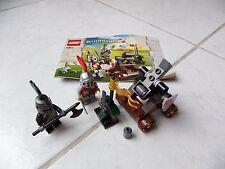 Lego Kingdoms knight's showdown catapulte 7950 avec notice complet château