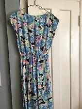 Vintage Miss Dorby Floral Dress Summer/Spring Retro Floral Pleated Skirt Sz 12
