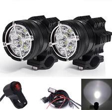 2x Universal 9 CREE LED Spotlight Motorcycle Head Fog Light Waterproof w/ Switch