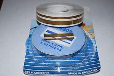 Pin stripe coachline tape gold 6mm + 3mm x 10m 02208/G