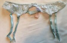 Victoria's Secret Green/Silver Lace 💗Suspender Garter Belt Extra-Small/Small