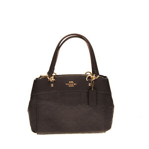 RRP€270 COACH Leather Tote Bag Embossed Logo Structured Design Magnetic Snap