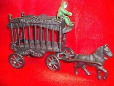 Vintage Cast Iron Toy Circus Wagon