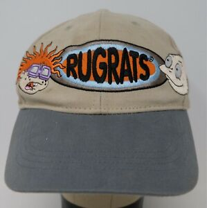 Rare VTG NICKELODEON Rugrats Chuckie Tommy Pickles Snapback Hat Cap 90s TV Youth