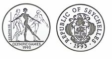 25 SILVER RUPEES/25 RUPIAS PLATA. 1993. GYMNASTS-GIMNASTAS. ´92 OLYMPICS. PROOF.