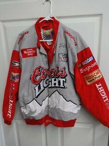 EUC NASCAR Coors Light Sterling Marlin Premium Denim Coat Men Large By JH Design
