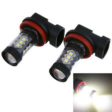 2pcs H11 H8 Cree 80w Led Smd Canbus Error Free Cree Cob Audi Bmw Vw White UK