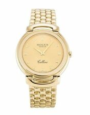 Rolex Quartz (Battery) Solid Gold Strap Wristwatches